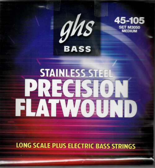 GHS Stainless Steel Precision Flatwound Long Scale Plus Electric Bass Strings