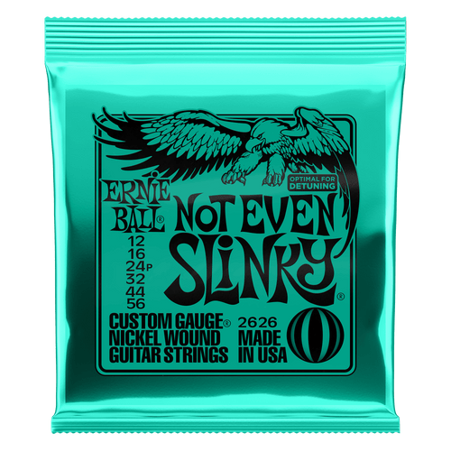 Ernie Ball Not Even Slinky Custom Gauge Nickel Wound Guitar Strings 12, 16, 24,