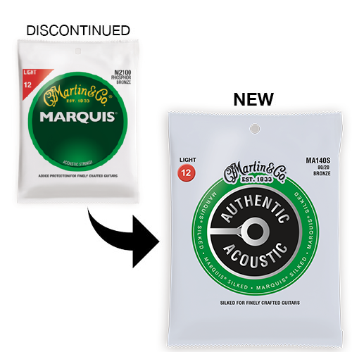 Marquis Silked Acoustic guitar strings MA170S 80/20 Bronze Extra Light
