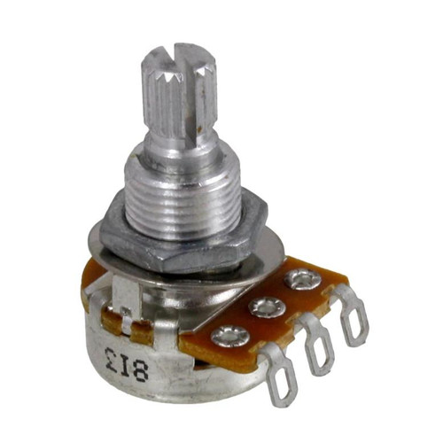 Alpha 50K Ohm Mini Potentiometer, Audio Taper, Split Knurled Shaft