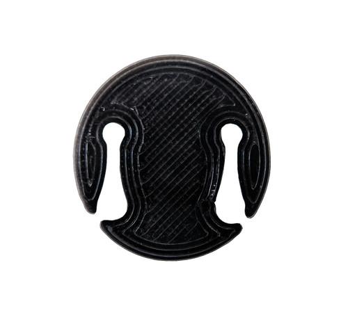 3D Sound Violin Mute Disc-Shaped Onyx Black