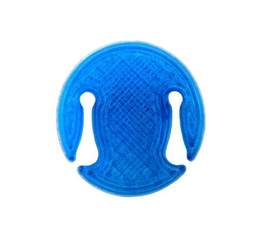 3D Sound Violin Mute Disc-Shaped Sapphire Blue