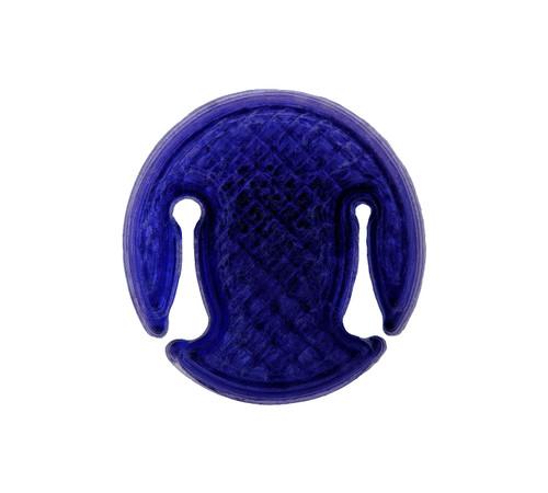 3D Sound Violin Mute Disc-Shaped Amethyst Purple