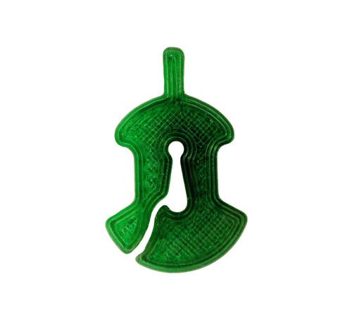 3D Sound Violin Mute Viol-Shaped Emerald Green