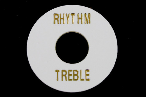 White Plastic Rhythm Treble Ring