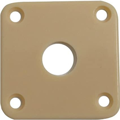Cream Plastic Square Jackplate for Les Paul