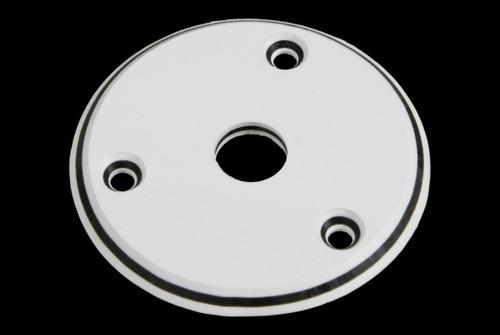White Round Jackplate for Flying V