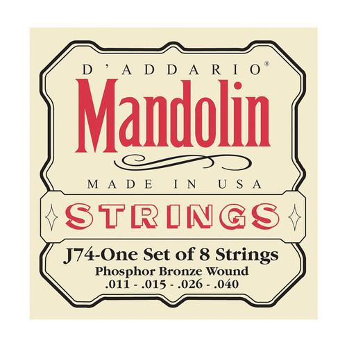 D'Addario J74 Mandolin Strings Phosphor Bronze