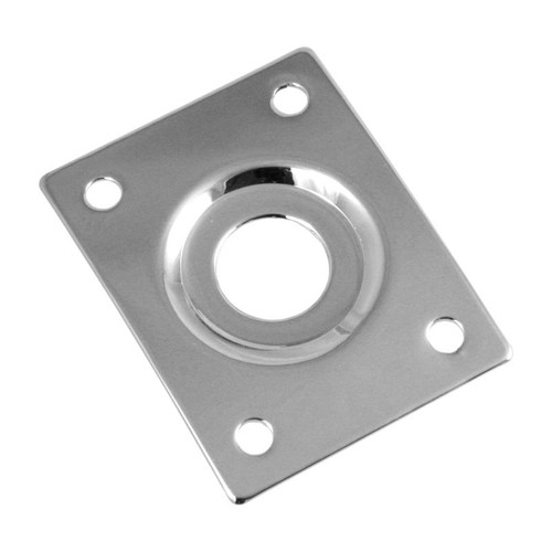 Chrome Rectangular Guitar Jackplate