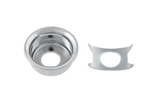 Chrome Input Cup Jackplate for Telecaster