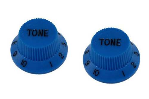 Blue Tone Knobs For Stratocaster Set of 2 Plastic