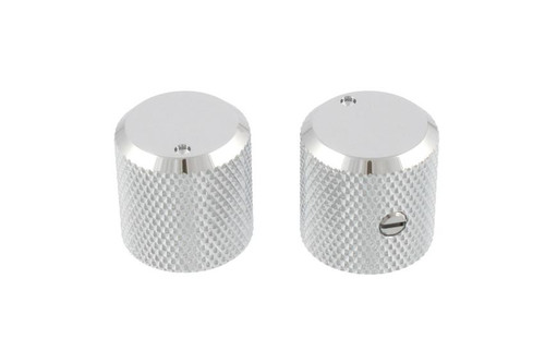 Chrome Metal Knobs Flat Top with Indicator
