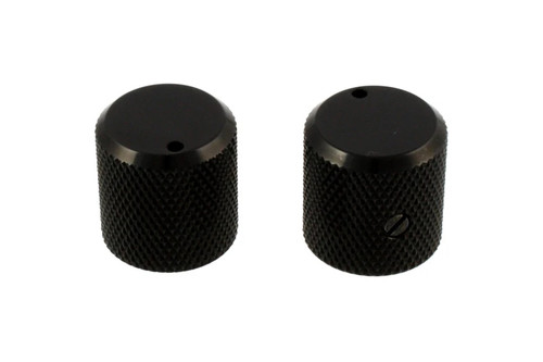 Black Metal Knobs Flat Top with Indicator Gotoh