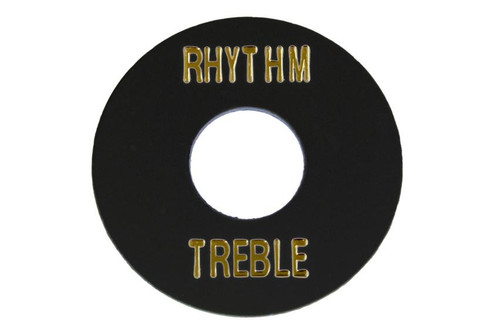 Black Plastic Rhythm Treble Ring