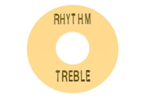Cream Plastic Rhythm Treble Ring