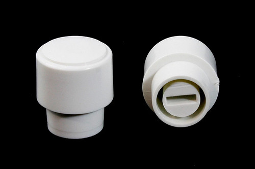Telecaster/Tele Guitar WHITE Barrel Switch Tip Knobs - Set of 2