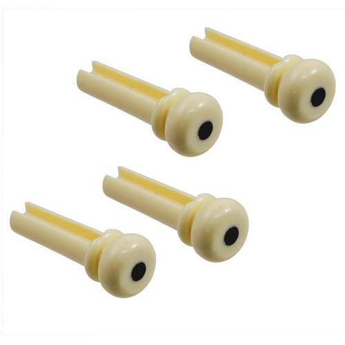 Cream Acoustic Bass Bridge Pins Grooved
