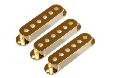 Gold Pickup Covers for Stratocaster - Set of 3