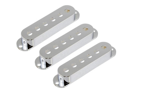 Chrome Pickup Covers for Stratocaster - Set of 3