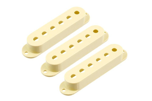 Cream Pickup Covers for Stratocaster - Set of 3