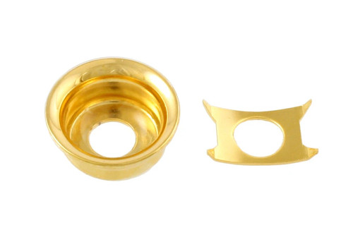Gold Input Cup Jackplate for Telecaster