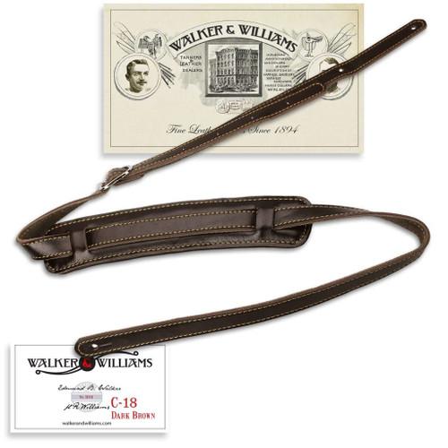 Brown Leather Vintage Slash Strap Extra Long