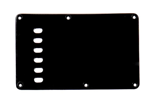 Matte Black 1-ply Tremolo Spring Cover Backplate