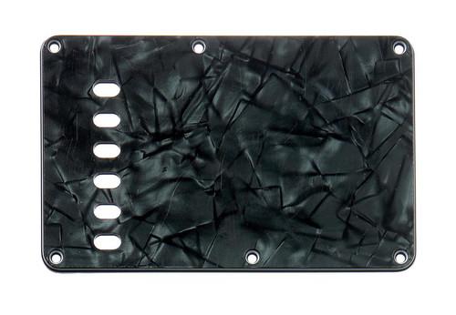 Dark Black Pearloid 4-ply Tremolo Spring Cover Backplate