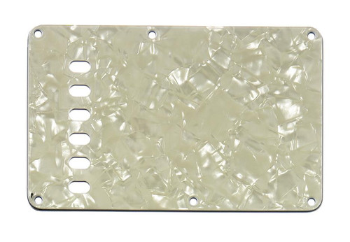 Mint Green Pearloid 3-ply Tremolo Spring Cover Backplate