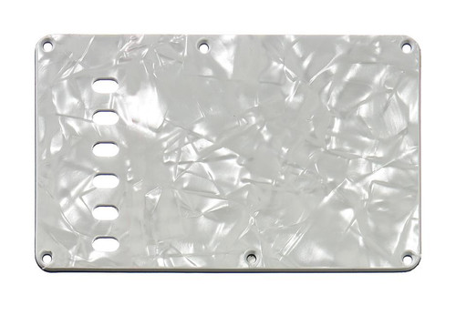 White Pearloid 4-ply Tremolo Spring Cover Backplate