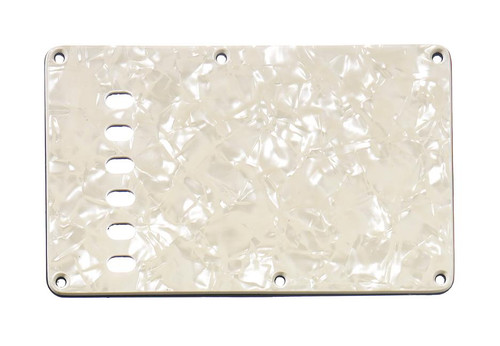 Parchment Pearloid 4-ply Tremolo Spring Cover Backplate