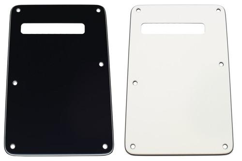 Black 3-ply Slotted Tremolo Spring Cover Backplate
