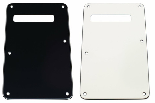 White 3-ply Slotted Tremolo Spring Cover Backplate