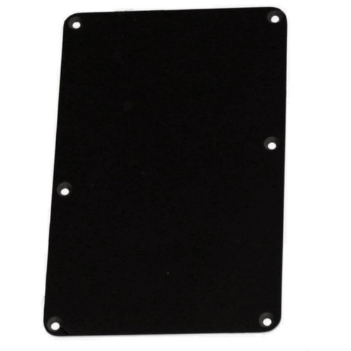 Black Tremolo Spring Cover Backplate No String Holes