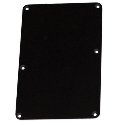Black Tremolo Spring Cover Backplate No String Holes