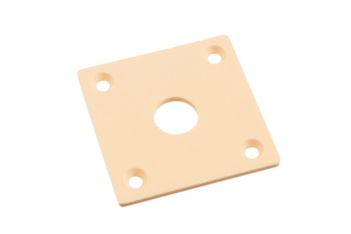 Cream Vintage-style Square Jackplate for Les Paul
