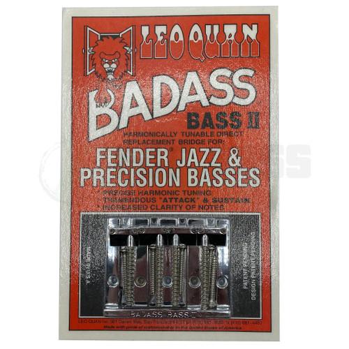 Leo Quan Badass Bass II Bridge Chrome