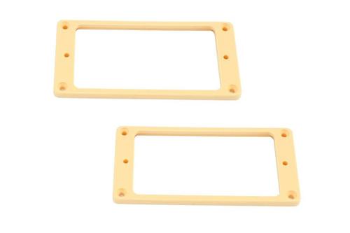 Cream Humbucking Pickup Ring Set Non-Slanted