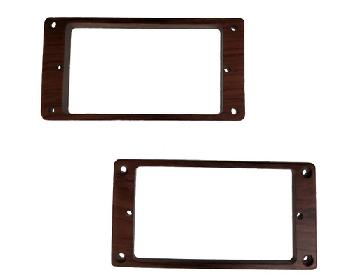 Rosewood Humbucking Pickup Ring Set Non-Slanted