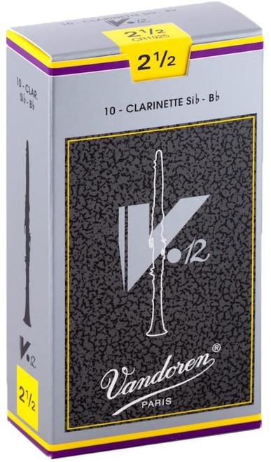 Vandoren V12 2.5 Reeds 10pack Bb Clarinet