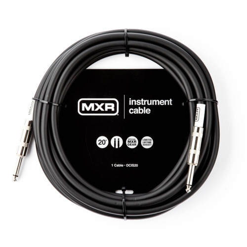 MXR 20FT Standard Instrument Cable Straight