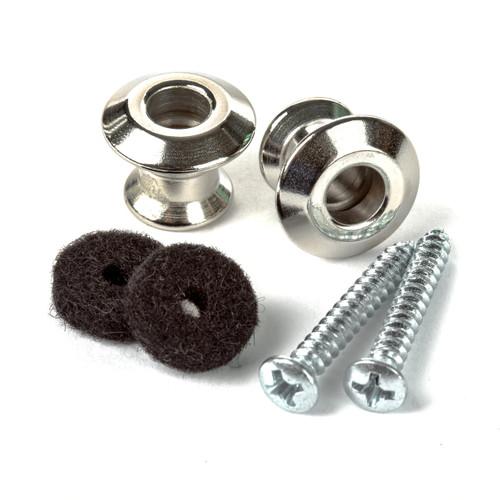 Dunlop Dual Design Nickel Straplok Strap Button Set