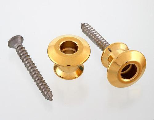 Dunlop Dual Design Gold Straplok Strap Button Set