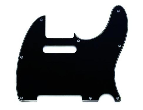 Black 3-Ply Pickguard for Telecaster 8-Hole