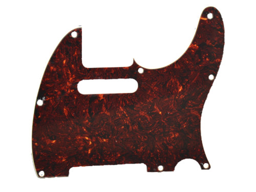 Red Tortoise 3-Ply Pickguard for Telecaster 8-Hole