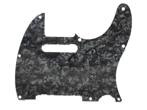 Dark Black Pearloid 4-Ply Pickguard for Telecaster 8-Hole