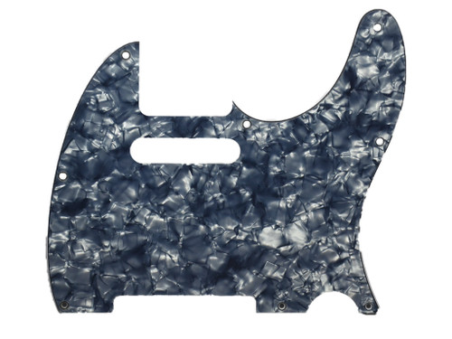 Black Pearloid 4-Ply Pickguard for Telecaster 8-Hole