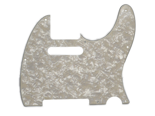 White Pearloid 4-Ply Pickguard for Telecaster 8-Hole