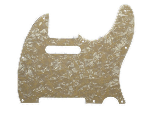Cream Pearloid 3-Ply Pickguard for Telecaster 8-Hole