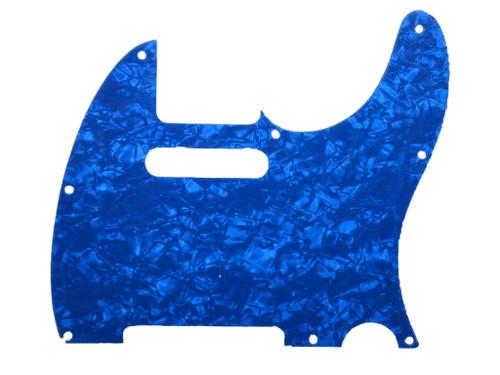 Blue Pearloid Pickguard for Telecaster 8-Hole